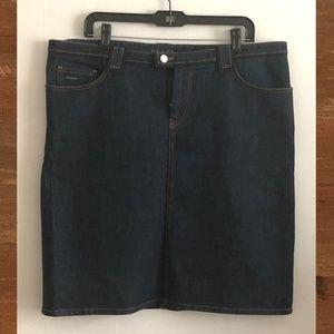 Prada Denim Short Skirt
